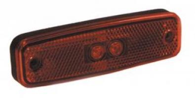 FEU POSITION ARRIERE ROUGE AVEC CATADIOPTRE 12/24V LED