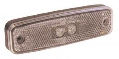 FEU POSITION AVANT BLANC AVEC CATADIOPTRE 12/24V LED