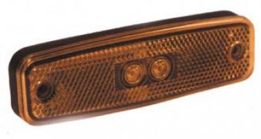 FEU LATERAL ORANGE AVEC CATADIOPTRE 12/24V LED