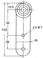 CHARIOT A GALETS GRIS/PR RAIL 35X30 (LIBNER/EDSCHA