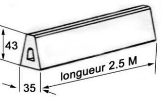 METRE PROFIL BUTOIR 35X43 Longueur 2,50m