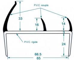 JOINT PVC GRIS/NOIR EP. 65 MM LG 5 M 1132392