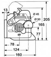 CROCHET FIXE A BOULE PERCE 2 TROUS 2905019