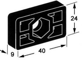 PLAQUETTE DE FIXATION PLASTIQUE NOIR 3110403