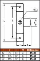 LOQUETEAU CARRE DE 6 18 X 105