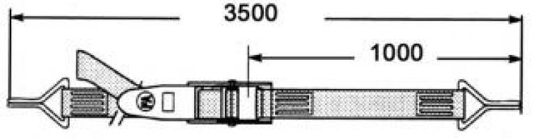 TENDEUR A LEVIER BLEU 3m50  A CROCHETS DOUBLES 7mm