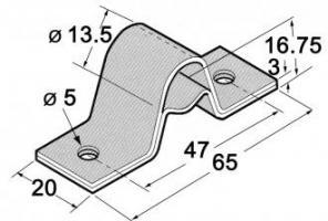 ETRIER ZN POUR TUBE DIAMETRE 13.5 3655112