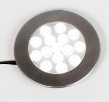 SPOT LED 12VDC IP20 2W 180LM CHROME MAT D 55MM BLANC CHAUD 3100°K