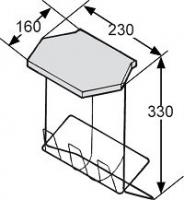 POUBELLE FIL PLASTIFIE BLANC CAPACITE 6 LITRES
