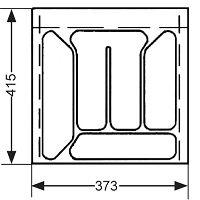 RANGE-COUVERTS PLASTIQUE BLANC 415x373MM