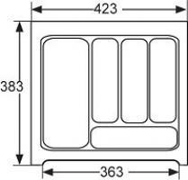 RANGE-COUVERTS PLASTIQUE BLANC 423x384MM