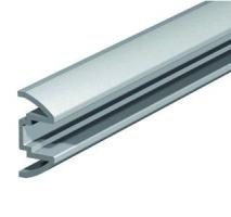 RAIL DE GUIDAGE EN APPLIQUE GRIS RAL 7035 LG DE 2.50M