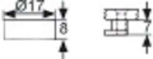 TAQUET DE GLACE LAITON EPOXY BLANC DIA.16MM