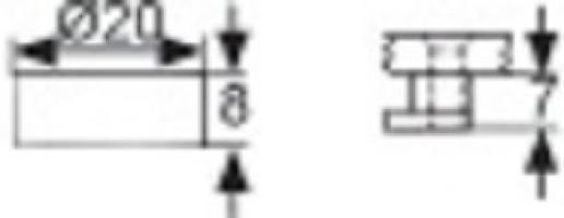 TAQUET DE GLACE LAITON EPOXY BLANC DIA.20MM