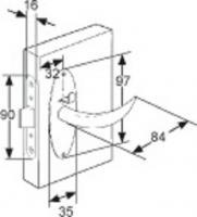 SERRURE COMPACT MC-01-120-10 CHROME BRILLANT MODELE REVERSIBLE