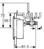 LOQUET A COMPRESSION M1-20-32-38 SANS SERRURE CAME M1-520-77-4