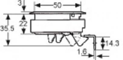 LOQUET A FERMETURE PAR POUSSEE M1-61-8 ACIER INOXYDABLE SANS SERRURE