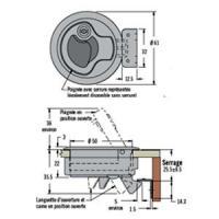 LOQUET A FERMETURE PAR POUSSEE M1-41-8 ACIER iINOXYDABLE AVEC SERRURE