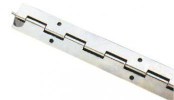 CHARNIERE PIANO 0M18 ACIER LAITONNE SP (Longueur de 0m18)