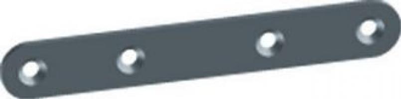PATTE D'ASSEMBLAGE 55X15MM ACIER ZINGUE