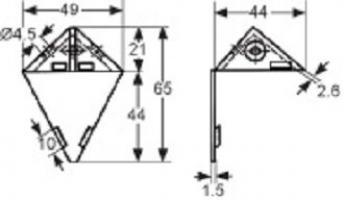 ASSEMBLAGE 3 TROUS 50X37MM PLASTIQUE BLANC + COUVERCLE