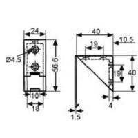 ASSEMBLAGE 4 TROUS 24X43MM PLASTIQUE BLANC + COUVERCLE