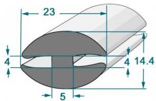 PROFIL COMPACT EN H 23X14 RL 25 M