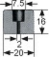 BUTEE NOIRE D20 HT 16MM