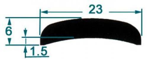 METRE DE MEPLAT ALU MM 23 LG 5 M 1503581