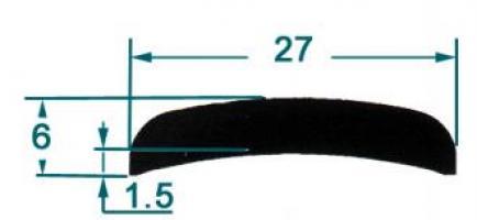 METRE DE MEPLAT ALU MM 27 LG 5 M 1503582