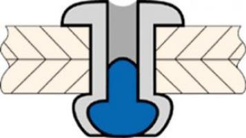 RIVET ALU TIGE ACIER TF 2.4 X 10 SER. 6.0/8.0 MM