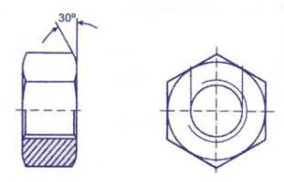 ECROUS 6 PANS CL.8 D10 ZN DIN 934